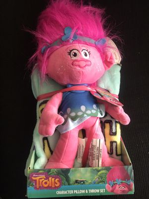 Trolls Poppy Character Pillow and Throw Set for Sale in El Cajon, CA
