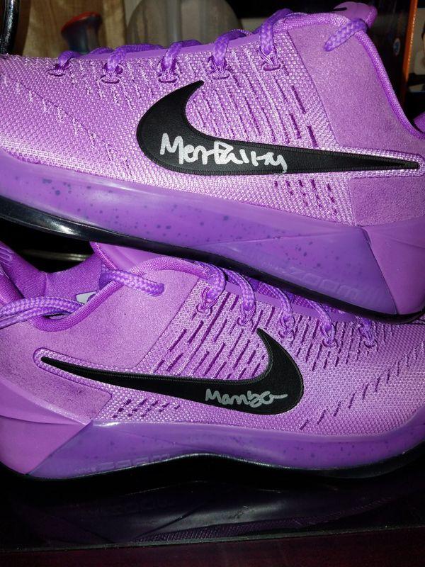 f7834215113 Kyle kuzma signed Kobe ad purple stardust bas coa for Sale in ...