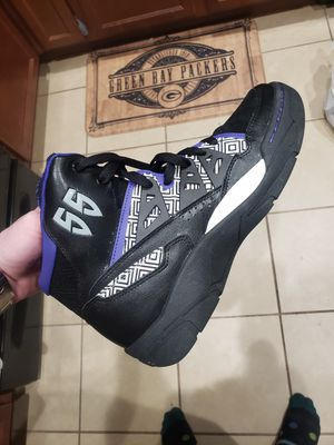 RARE Adidas Mutombo 55 Basketball Shoes Black Purple Red Men's Size 10.5 Q33016 for Sale in Princeton, TX