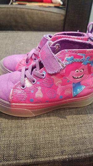 Toddler girl size 8 Poppy Troll light up sneakers for Sale in Eddington, PA
