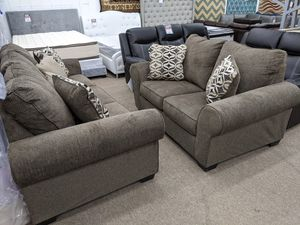 no credit needed 90 days no interest high quality sofa and loveseat with pillows for Sale in Takoma Park, MD