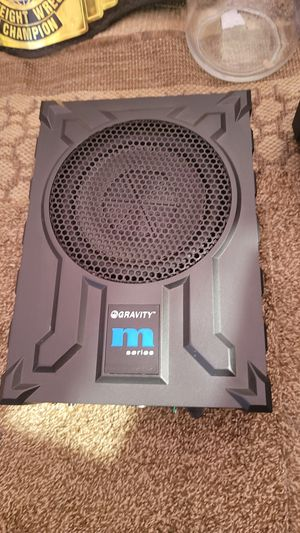 Gravity subwoofer 8 hideaway with built in amp 1000 watts for Sale in Modesto, CA