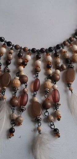 Vintage Necklace Feathers And Beads for Sale in Yakima,  WA