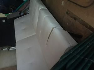 White futon with chrome base for Sale in Charlotte, NC