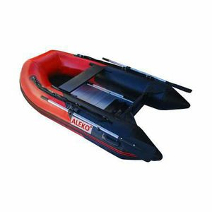 8.4 Feet 3 Person Inflatable Boat Aluminum Floor Motor Fishing Boat Red and Black for Sale in Kent, WA