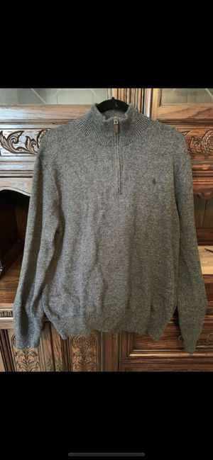 Men's Ralph Lauren XL grey sweater for Sale in Fort Pierce, FL