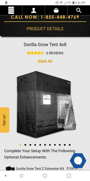 4x8 Original Gorilla Grow Tent/ Used for Sale in Washington, DC