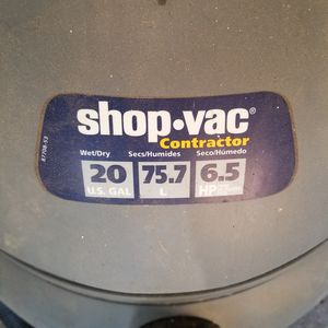 Shop Vac Contractor 20GAL, 6.5HP for Sale in Palatine, IL