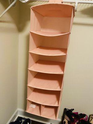 Salmon pink closet organizer. Great condition! for Sale in Alexandria, VA
