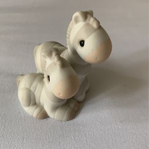 PRECIOUS MOMENTS pair of Zebras Figurine ~ Noah's Ark Two by Two 127809 for Sale in Naperville, IL
