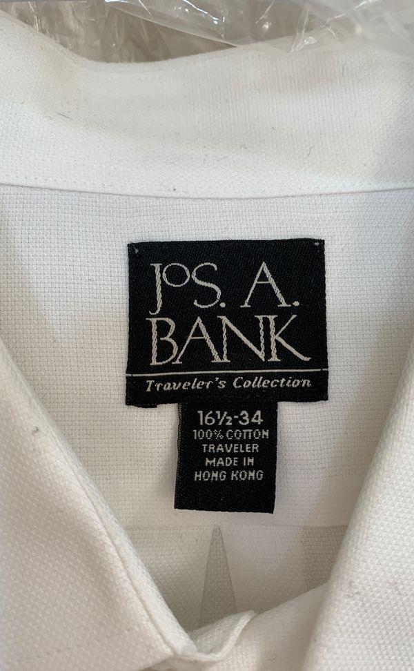 Dry cleaned branded white dress shirt