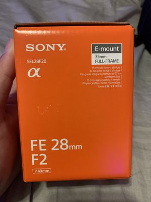 selling my FE 28mm f2 lens (wide Angle) Only used it once need gone asap for Sale in Norwalk, CA