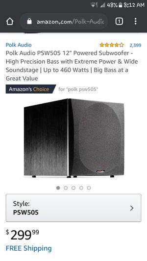 Polk Audio psw-505 for Sale in Kingsport, TN