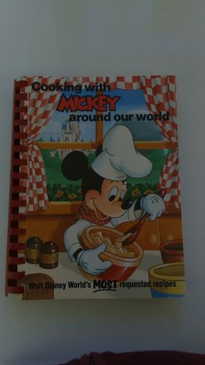 Disney - 1986 Cooking with Mickey around our world cookbook. First edition. for Sale in Brick Township, NJ