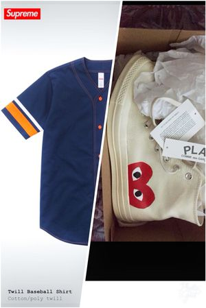 CDG PLAY CONVERSE & SUPREME JERSEY for Sale in Houston, TX