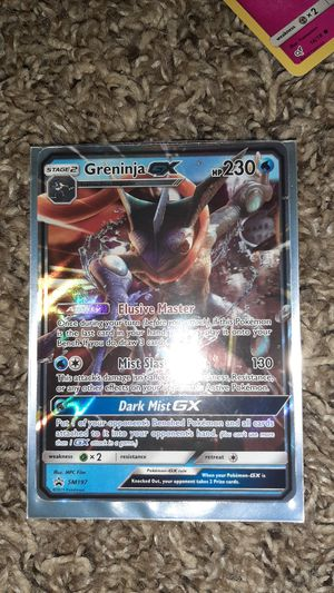 Brand new right out of the Box greninja gx and to GX detective Pikachu for Sale in Washougal, WA