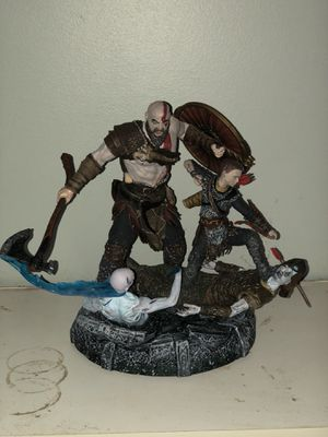 God of War collectible statue also comes with a cloth map for Sale in New Haven, CT