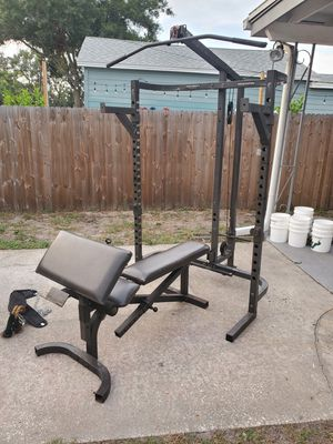 Bodysmith adjustable bench and squat rack with pulley system for Sale in St. Petersburg, FL