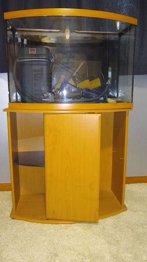 36 gal. Bowfront, Cabinet, and all for Sale in Bellevue, WA