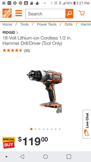 Ridgid x5 gen impact drill ( tool only for Sale in San Jose, CA