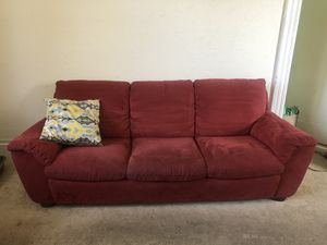 ~7' red couch for Sale in Oakland, CA