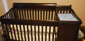 Baby Crib + attached changing table, drawers, shelves for Sale in Tacoma, WA