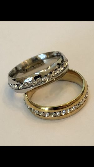 Beautiful titanium and CZ rings Gold and Silver for Sale in Glendale, AZ
