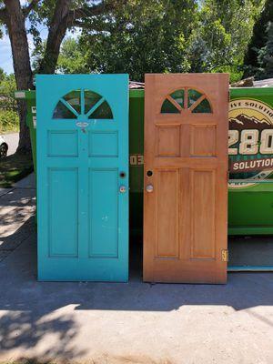 2 solid wood entry doors for Sale in Denver, CO