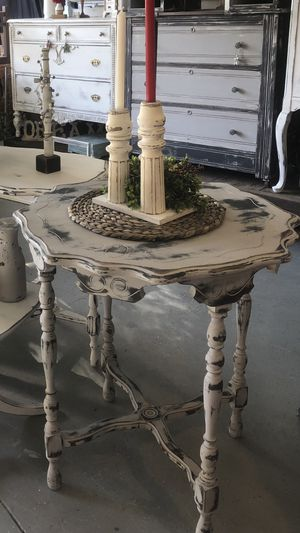 Farmhouse shabby chic antique table accent gray for Sale in Clermont, FL