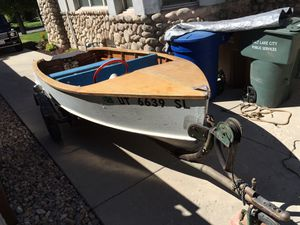 1954 Chriscraft 14' wood fishing boat. I dare you to try and find another one anywhere. for Sale in Salt Lake City, UT