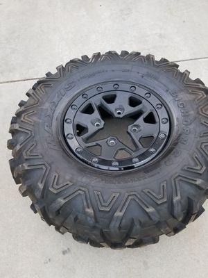 CANAM Maverick x3 tire wheel rim Maxxis big horn beadlock 30x10x14 for Sale in Orange, CA