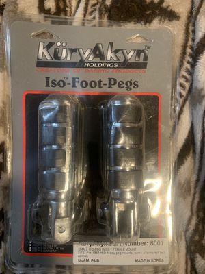 KuryAkyn iso foot pegs for Sale in Davenport, IA