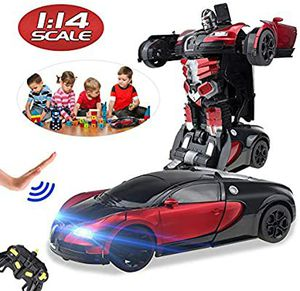 RC Deformation Car Robot Toy for Kids, Safe Transformed Gesture Sensing One-Button Deformed Realistic Engine Sound,1:14 Scale 360° Auto Perfor for Sale in Tampa, FL