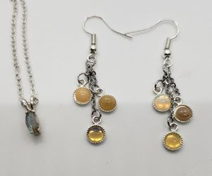 Natural Moonstone Earring/Necklace Set for Sale in Haslet, TX
