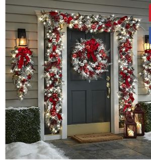 Christmas front door decor for Sale in Oklahoma City, OK
