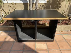 """Producers Desk - Dual equipment openings w/ 19"""" rack rails - $150 for Sale in Los Angeles, CA"""