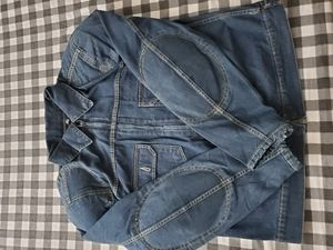 Denim Motorcycle Zipper Jacket With Back /Shoulders/Elbow Protection Pad Size XL /2XL for Sale in Lawndale, CA