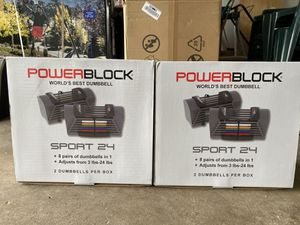 *BRAND NEW* PowerBlock Sport up to 24lb Adjustable Dumbbell System for Sale in Carol Stream, IL
