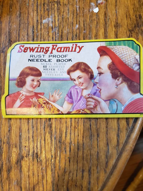 Vintage sewing family needle book