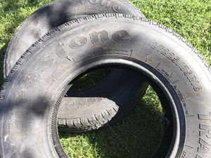 Almost new 2 Firestone 225/74R16 tires for Sale in Ronks, PA