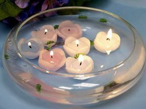Glass Floating candle bowl center piece for Sale in Fort Lauderdale, FL