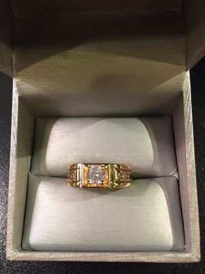 Unisex 🤵👰💍 18K Gold plated Engagement /Wedding Ring for Sale in Dallas, TX
