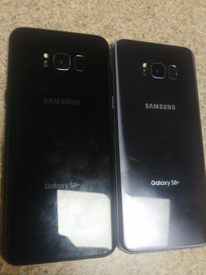 TWO S8 PLUSES. BOTH BLOCKED ON TMOBILE. BOTH HAVE SMALL CRACKS ON RIGHT CORNER SEE PICS $125 EACH for Sale in Philadelphia, PA