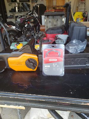 Worx electric chain saw and new Spare blade for Sale in Deltona, FL