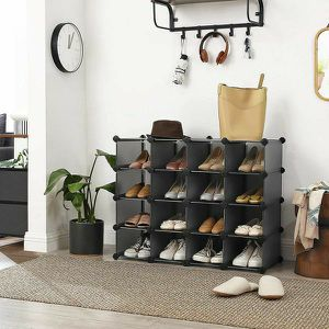 Shoe Rack, Space Saving 15-Cube Plastic Shoe Storage Organizer Units, Modular Cabinet, Ideal for Entryway for Sale in El Monte, CA