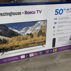 """Westinghouse 50"""" 4K TV ROKU Brand New In Box for Sale in National City, CA"""