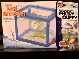 Fish Tank/ Aquarium Penn Plax Deluxe Net Breeder And Fancy Guppy Food!! for Sale in Chalfont,  PA