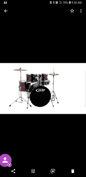 Full PDP Z5 drum set snare, highhat, crash, ride, 4 toms, base drm and lots of extra skins and seat for Sale in North Las Vegas, NV