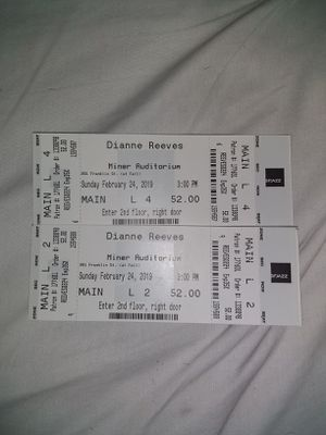 2 Tickets Dianne Reeves at Minor Auditorium...Sun, Feb 24th, 3pm for Sale in San Francisco, CA