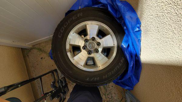 "4th gen 4runner 17"" wheels cooper H/T tires obo"
